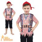 Kids Pirate Boy Costume Toddler Deckhand Captain Hook Fancy Dress Childs Outfit