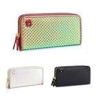 Ladies Double Zip Metallic Purse Girls Holographic Wallet Clutch Handbag GPA268