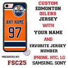 Edmonton Oilers Personalized Hockey Jersey Phone Case Cover for iPhone etc. $18.98 USD on eBay