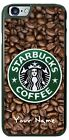 Starbucks Coffee Bean Logo Customized Phone Case with Name for iPhone LG HTC etc