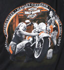 Harley-Davidson Mens Shine It Up Pinup Bike Wash Black Short Sleeve T-Shirt image