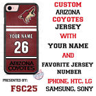 Arizona Coyotes Personalized Hockey Jersey Phone Case Cover for iPhone etc.