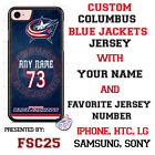 Columbus Blue Jackets Personalized Hockey Jersey Phone Case Cover for iPhone etc $23.98 USD on eBay
