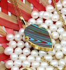 Stylish Arrowhead Multi-Turquoise 24k Gold Plated Pendant Chain Necklace Jewelry