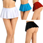 Women Lady Tennis Low Rise Skater Flared Pleated Short Micro Mini Skirt Clubwear
