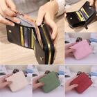 Womens PU Leather Small Mini Wallet Card Holder Zip Coin Purse Clutch Handbag D image