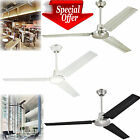 "Industrial Ceiling Fan 56"" Three Blade Ball Hanger Wall Control Units Commercial $105.99 USD on eBay"