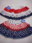 Holiday Time Toddler Girls Red White Blue Layered Skirt Various Sizes NWT