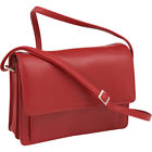 Derek Alexander Alternatives East/West Flap Organizer Leather Handbag NEW