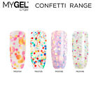 Mylee MYGEL Confetti Glitters Range UV LED Gel Nail Polish Colour Manicure 10ml