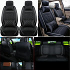 Car Seat Cover Pu Leather 100% 5 seat Suv Cushions Set Front & Rear W pillows Us