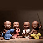 China porcelain Pottery ceramic handcraft carvings Kung Fu 4 little monk statueh image