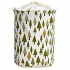 USA Laundry Basket Bag Foldable Cotton Linen Washing Clothes Hamper Storage Toys фото