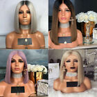 Women Ladies Synthetic Lace Front Straight Hair Wigs BOB Style Cosplay Full Wigs