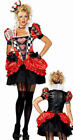 Leg Avenue 83840 NEW 2 Pc Evil Red Queen of Heart Adult Women Costume S, M, L