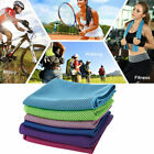 Sports Ice Cool Towel Hypothermia Jogging Sweat Wipe Towel Instant Chilly Pad US image