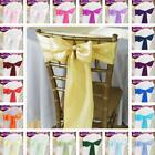 Внешний вид - 10/20/50/100 pcs Satin Chair Sash, 33 colors! Wedding Banquet Event Wholesale