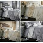 Catherine Lansfield Luxor Jacquard Gold or Silver Duvet Cover Set !!CLEARANCE!!!