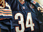BRAND NEW Chicago Bears #34 Walter Payton Throwback Blue 2Patch SEWN Jersey Mens on eBay