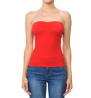 Womans  BASIC  Stretch Sleeveless PLAIN  Strapless TUBE TOP Seamless Tee(S-L)