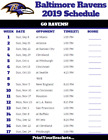 8.25X5.25 2019 FOOTBALL SCHEDULE MAGNET PRO SPORTS TEAM FIXTURES NFL NATIONAL LE