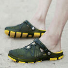 Mens Beach Sandals Shoes Summer Outdoor Hollow-out Slippers Breathable Anti skid