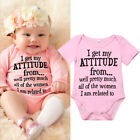Kyпить Newborn Infant Baby Girl Funny Letter Romper Jumpsuit Soft Clothes Outfits 0-18M на еВаy.соm
