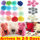 50pcs Foam Artificial Flowers Fake Rose Flower Heads Wedding Bouquet Party Home