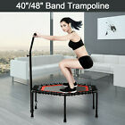 "40""/48"" Mini Rebounder Trampoline Exercise Fitness Gym W/Adjustable Handrail image"