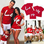 US Summer Family Matching Tops Women Men Baby Kids T shirt Blouse Clothes Tees