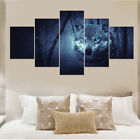 Wolf Canvas Painting HD Print Animals Group 5 Pieces Module Picture