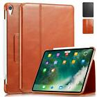 "Apple iPad Pro 11"" 2018 Cowhide Leather Slim Fit Smart Folio Case Cover"