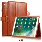 "Apple iPad Pro 10.5"" Cowhide Leather Slim Fit Smart Folio Case Cover"