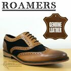 Roamers Classic Men's 5 Eye Leather & Suede Oxford Brogues Smart Formal Shoes