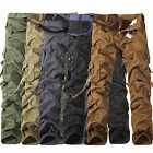 Men Army Cargo Military Work Trousers Tactical Multi-Pocket Casual Outdoor Pants