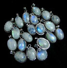 Hot Sale Offer Fire Rainbow Moonstone Gemstone Silver Plated Necklace Pendants