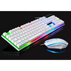 HOT USB Wired Gaming Keyboard and Mouse Set Bundle Computer Colorful Backlight