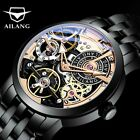 AILANG Designer Fashion Automatic Skeleton Steampunk Tourbillon Men's Watch image