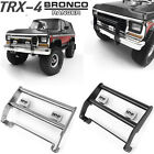 Metal Front Bumper with LED Lights For 1/10 CChand Traxxas TRX-4 Ford Bronco Car