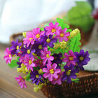 US Outdoor Flower Fake False Plants Grass Artificial Garden Daisy Decor  P