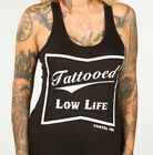 Tattooed Low Life Racer Back Tank Top