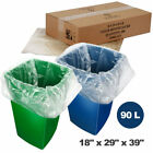 Premium Bin Liners Waste Recycling Plastic Transparent Clear Bags Refuse Sacks