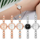Fashion Women Bracelet Crystal Wrist Watch Stainless Steel Ladies Casual Watches image
