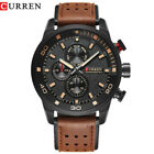 CURREN Men's Watches Army Sport Leather Strap Band Analog Quartz Wristwatch image
