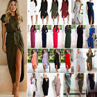 Fashion Womens Maxi Dress Holiday Beach Casual Loose Cocktail Party Prom Gown