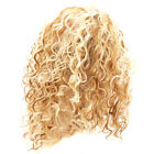 Gold Short Hair Synthetic Heat Resistant Afro Kinky Curly Fashion Wig Women WE