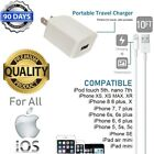 3ft,6ft or 10ft USB Power Cable + 5W Cube Wall Charger for iPhone 7,8,X,XS,XR T5
