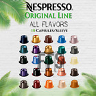 Nespresso Coffee 10 Pods Original Line Capsules 1 Sleeve All Flavor Fresh Sealed