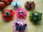 20pcs Butterfly Caps Design Dog Hair Bows Pet Grooming Hair Clips Accessories
