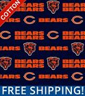 """Chicago Bears NFL Cotton Fabric - 60"""" Wide - Style# 6312 - Free Shipping!! $10.95 USD on eBay"""